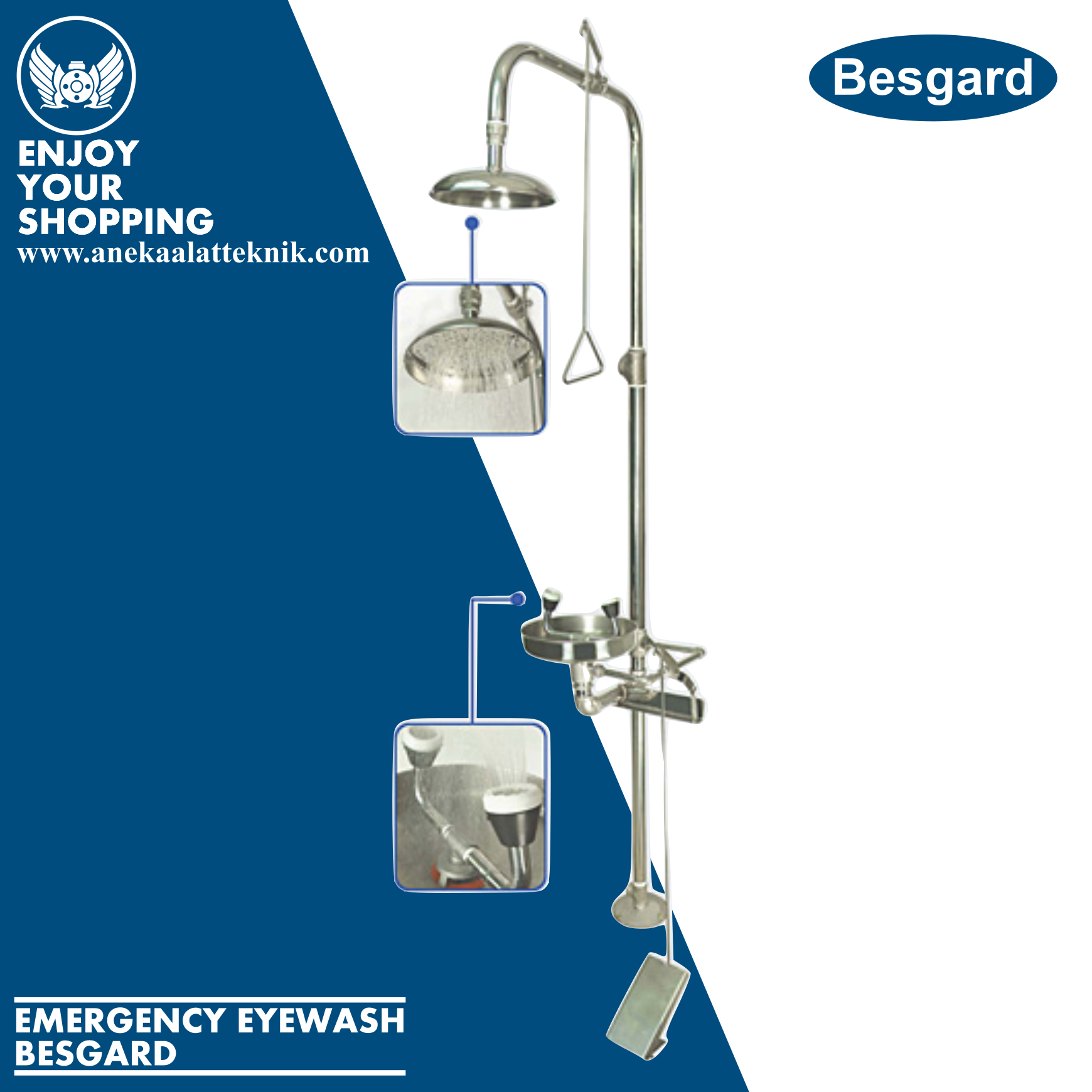 Jual Emergency Shower and Eyewasher Besgards GSE 1