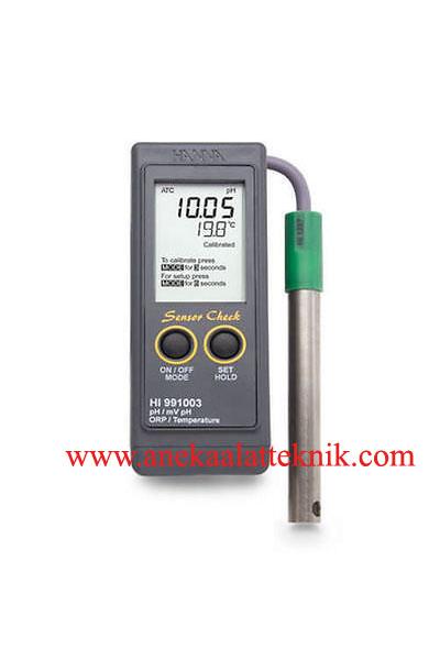 Jual HANNA HI991001, HI991002, HI991003 Portable pH, pH-mV, ORP, Temperature Meter with Sensor Check™