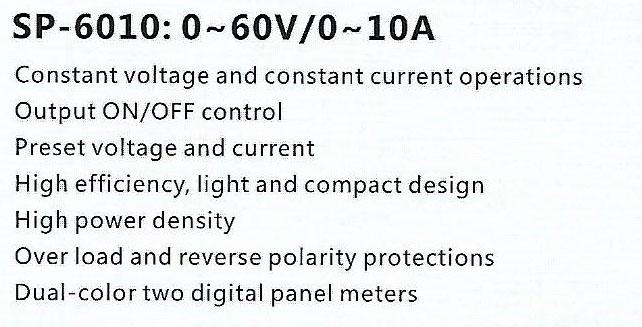 Spec-SP-6010 Jual Power Supply Sanfix SP6010