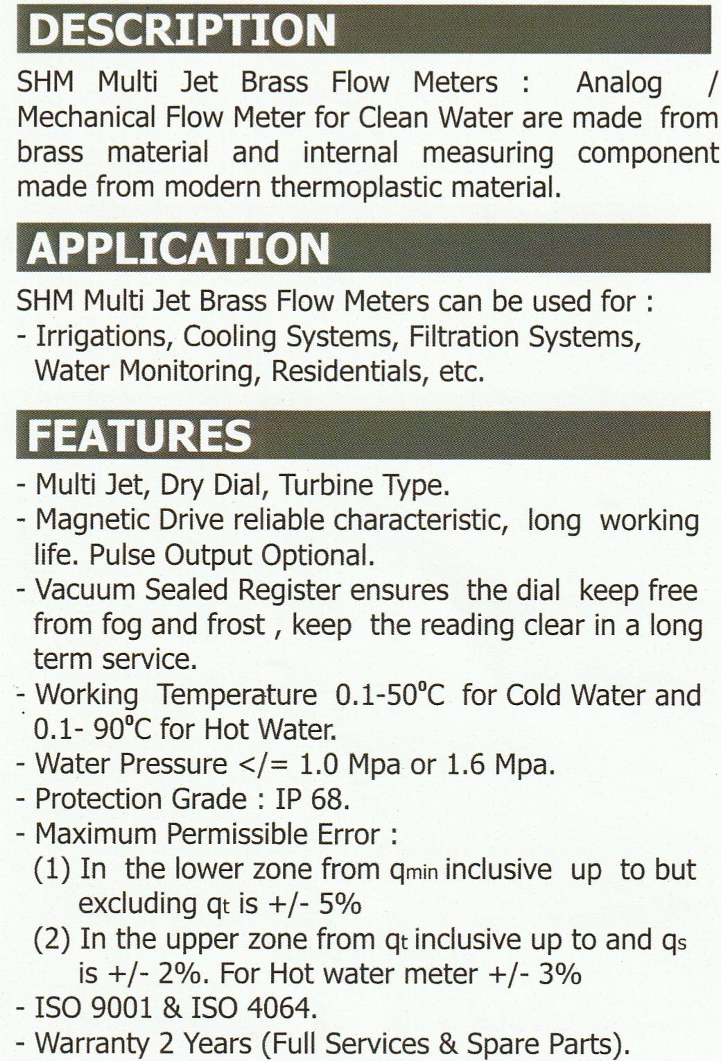 SHM-MULTIJET-BRASS-FLOWMETER-KATALOG-1 JUAL SHM MULTIJET BRASS FLOWMETER