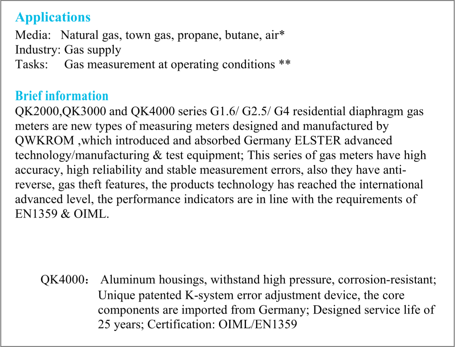 g4615 JUAL GAS METER ELSTER