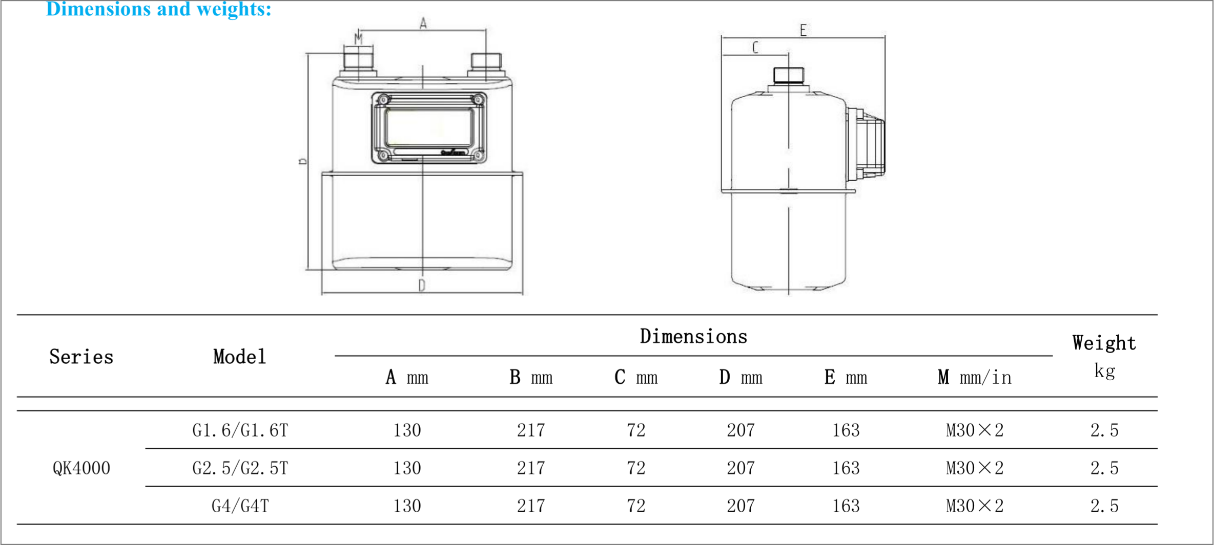 g7153 JUAL GAS METER ELSTER