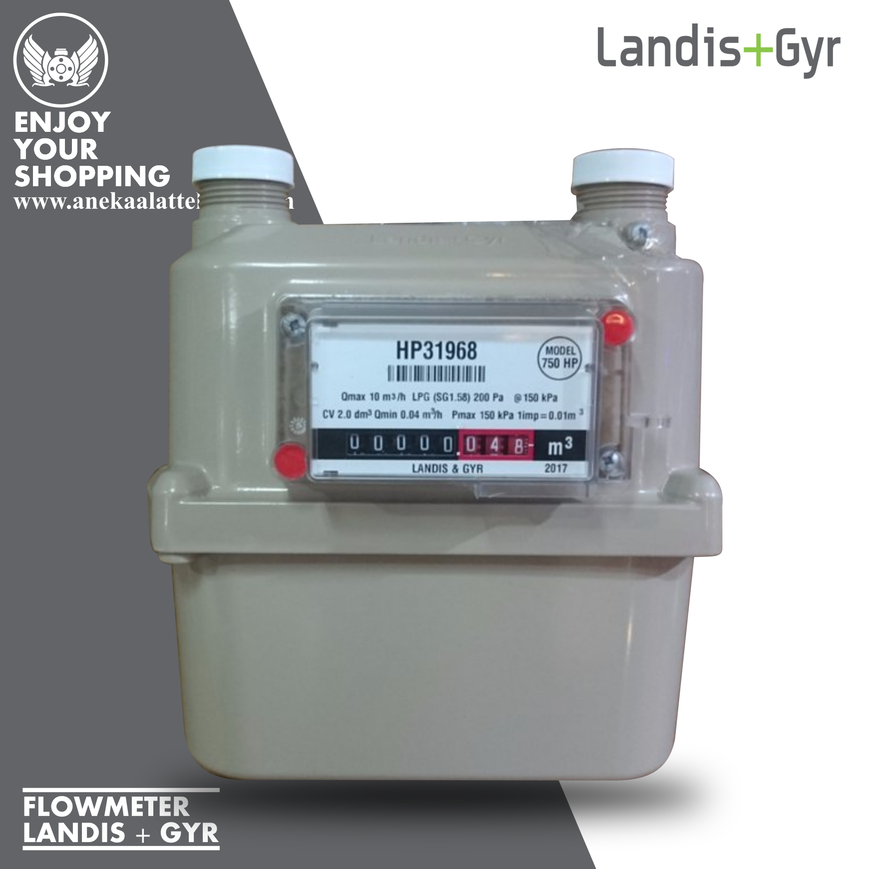 Jual Gas Meter Landis Gyr Model 1010
