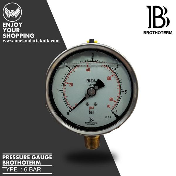 pressure gauge brothoterm 6 bar