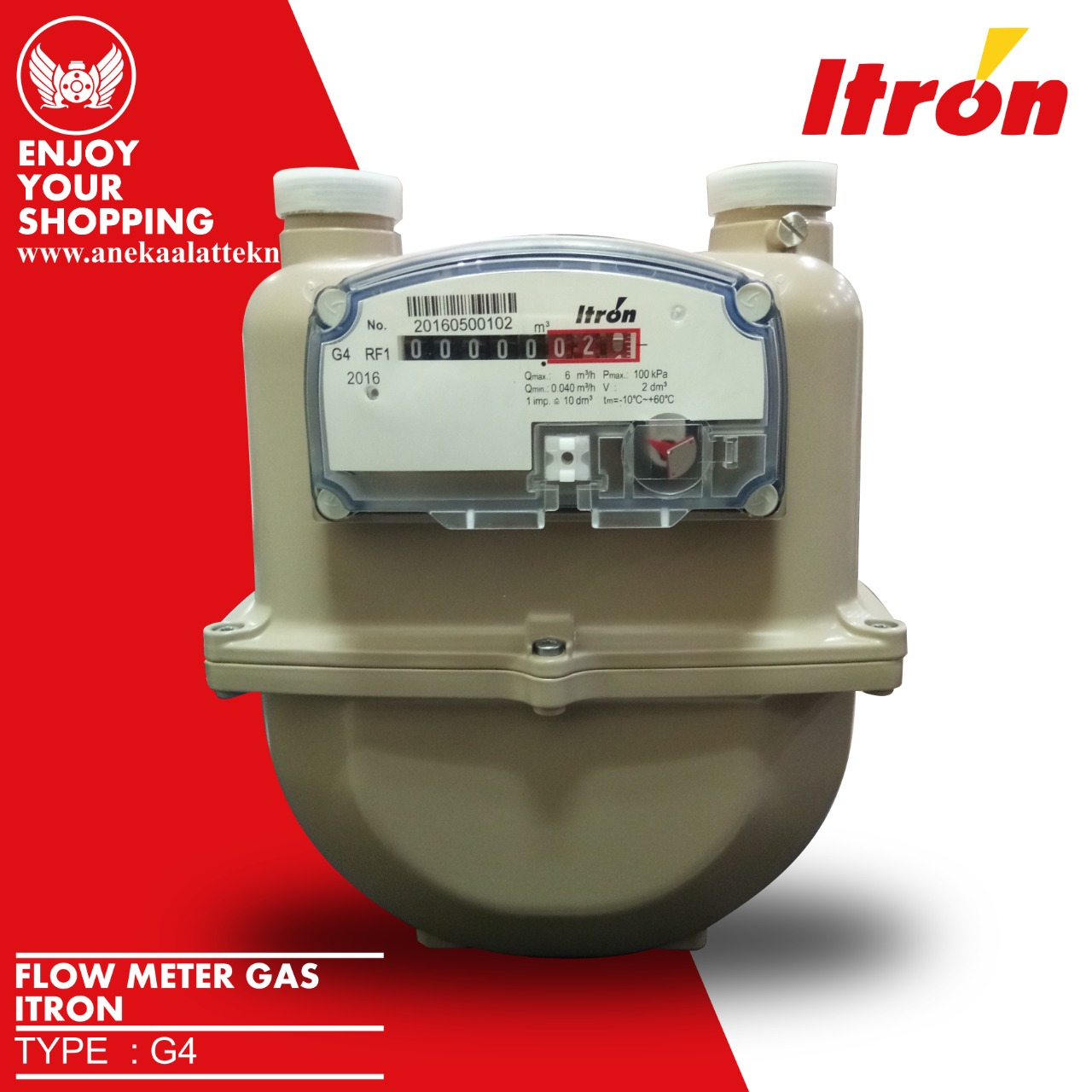 Diaphragm Gas Meter G4 RF1