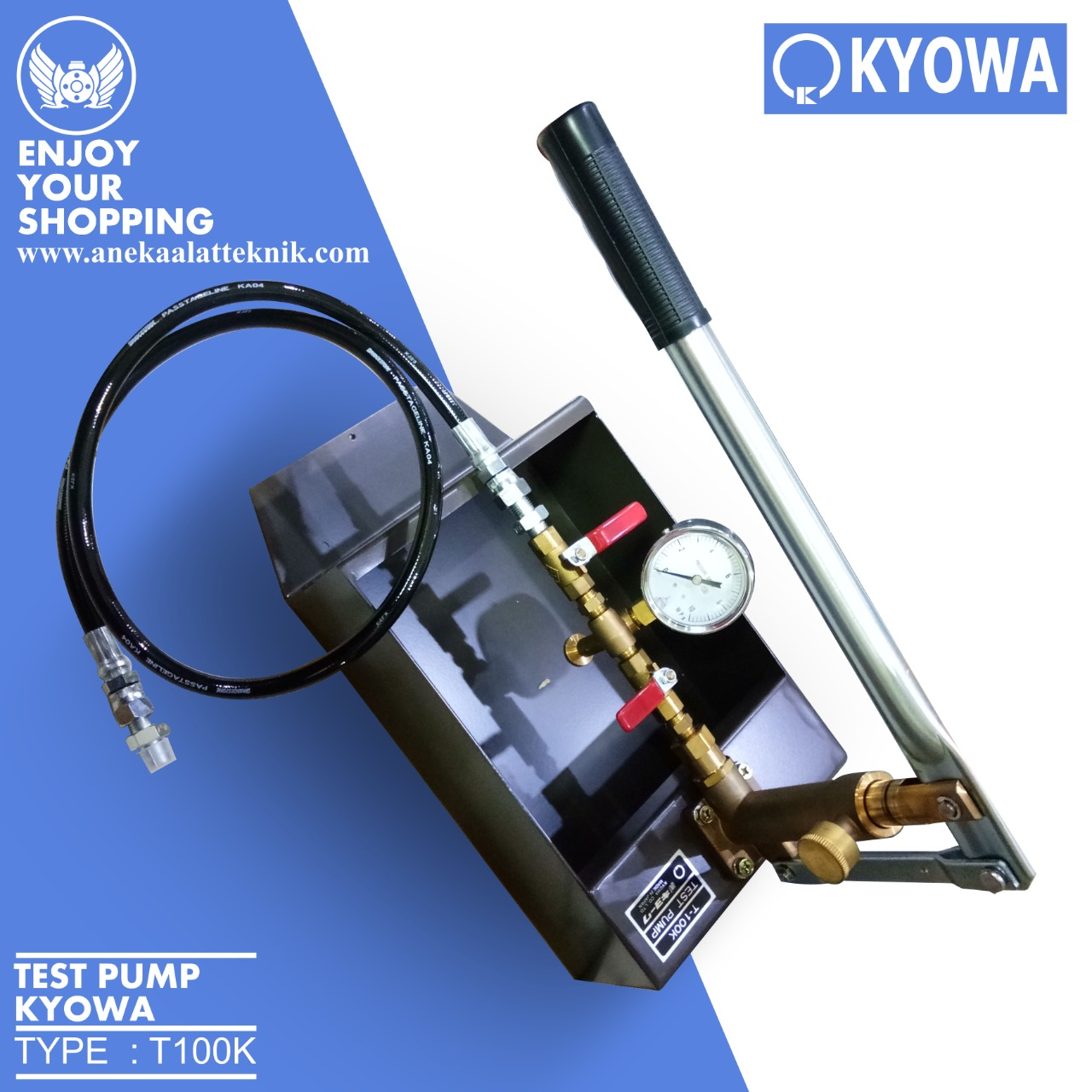 Mesin Test Pump & Tester Manual Kyowa T-100K Test Pump 100 KG