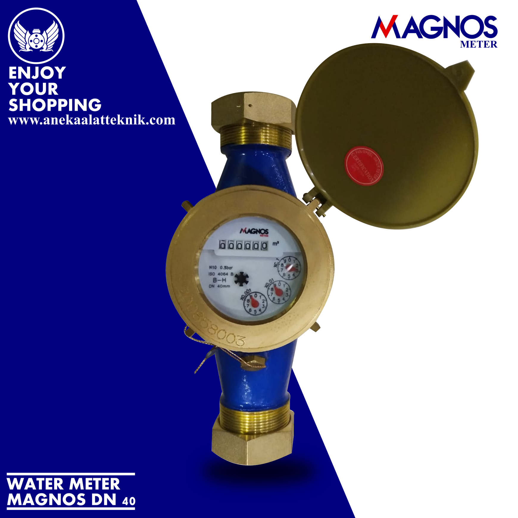Jual Water Meter Magnos DN 40 mm